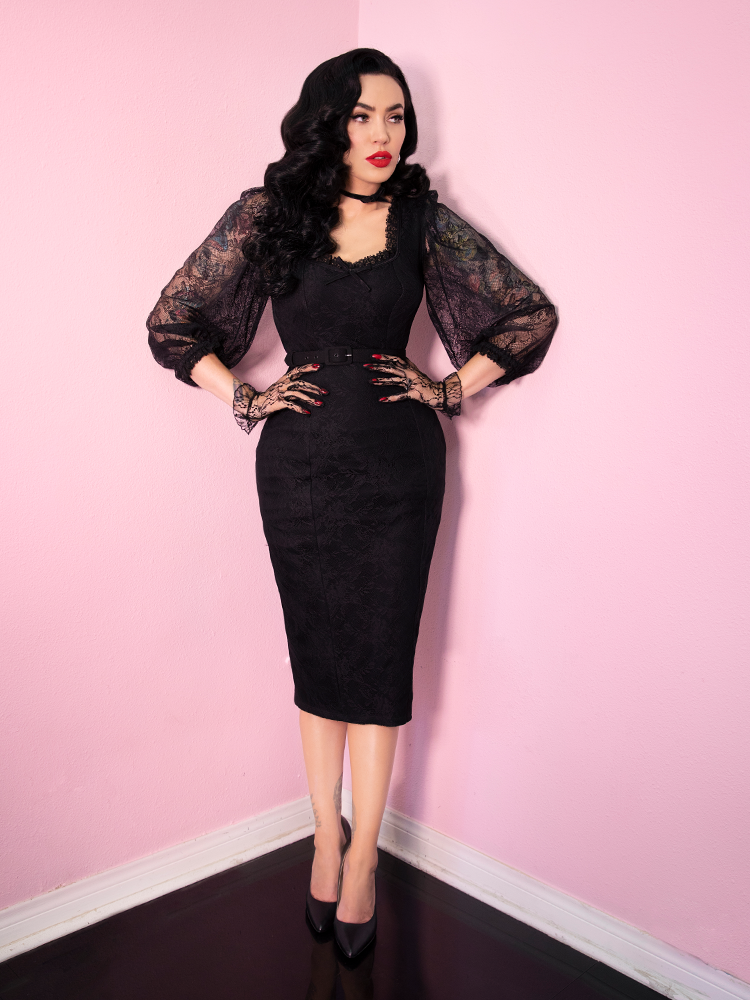 Decadence Wiggle Dress in Black