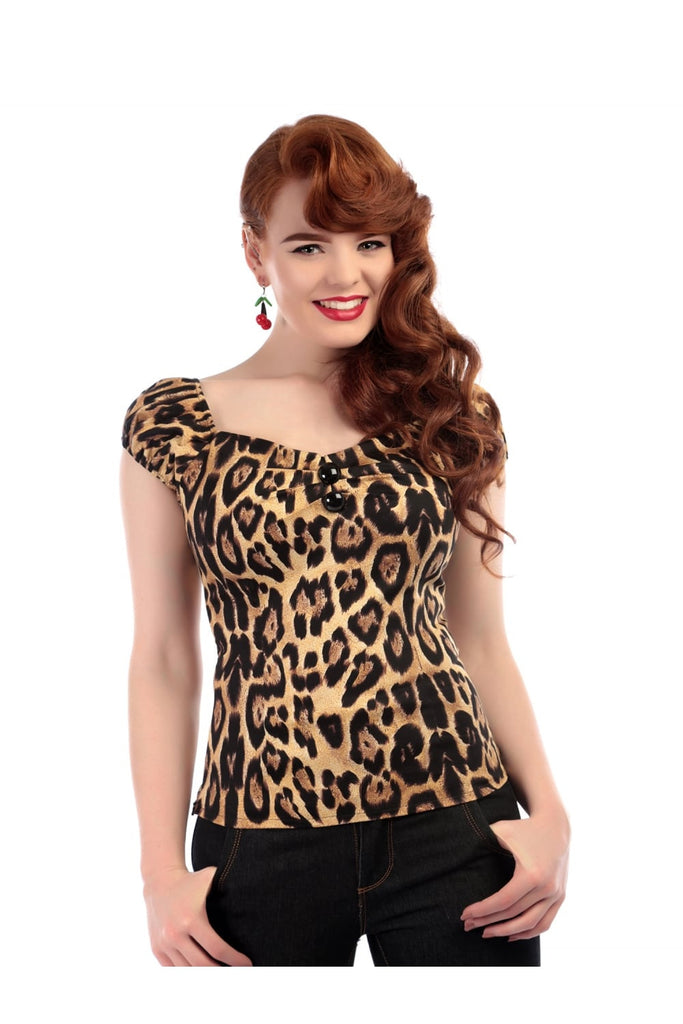 Dolores Top in Feral Print