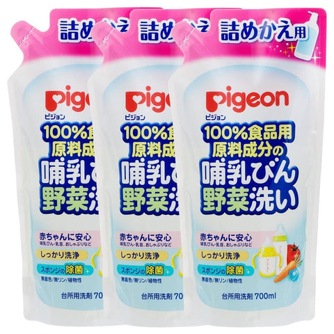 Pigeon Vegetable And Milk Bottle Cleaner Refill 3 x 700ml