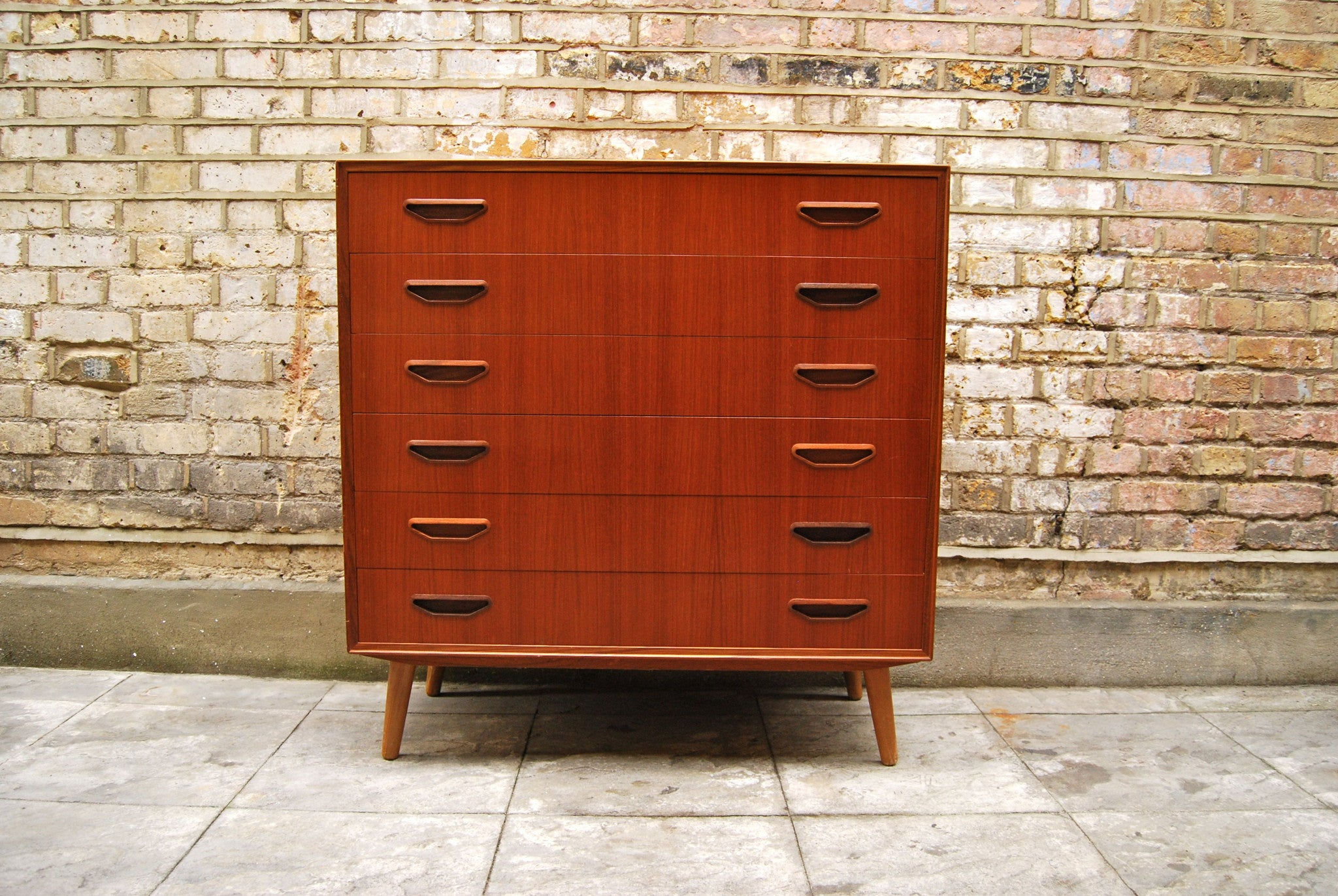 Large chest of drawers in teak
