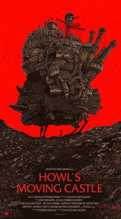 Howls Moving Castle Olly Moss poster