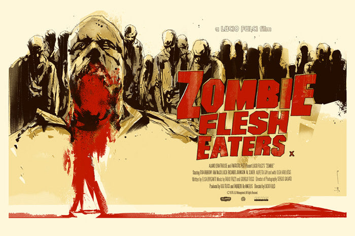 Zombie Flesh Eaters UK Variant  Jock poster