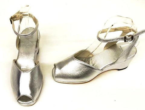 Gina  Silver  Wedge Sandals  - IN STOCK NOW size 4