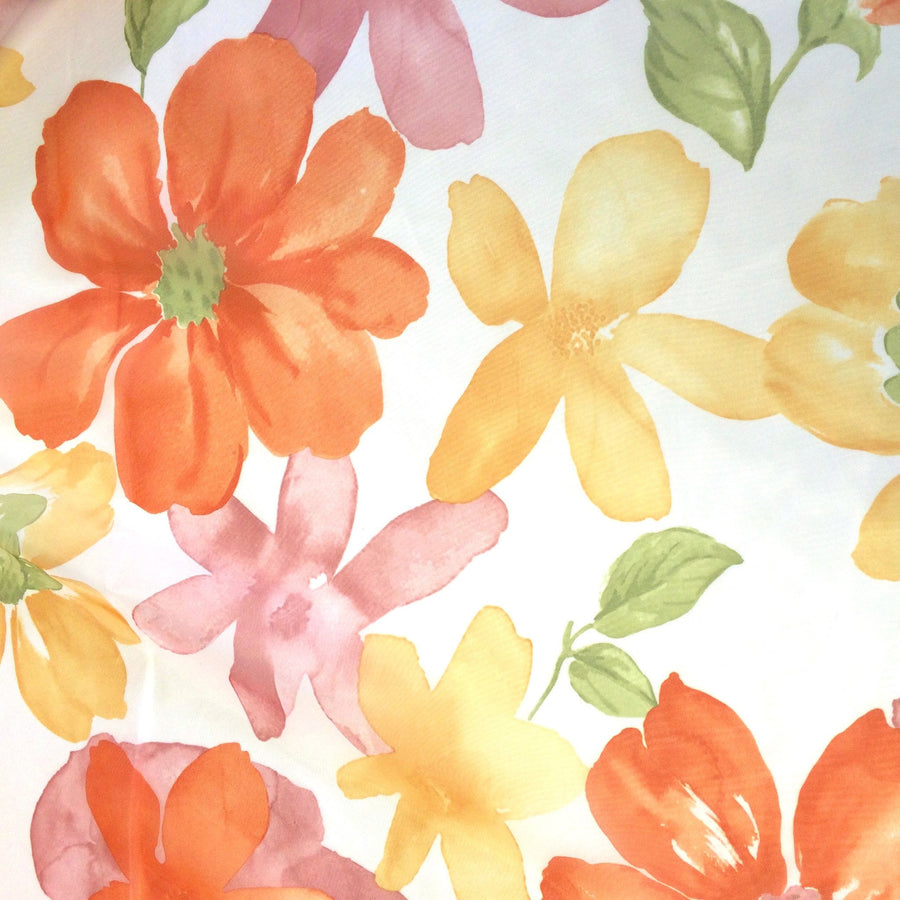 "Floral Printed Sheer Voile (118"") Fabric"