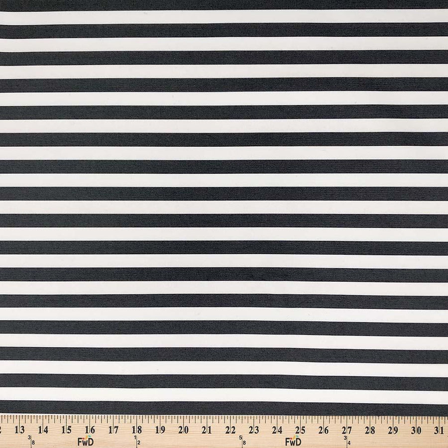 Ottertex®Canvas Printed - Slim Stripes Black