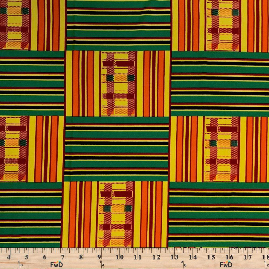Kente African Print DTY Brushed (10-2)