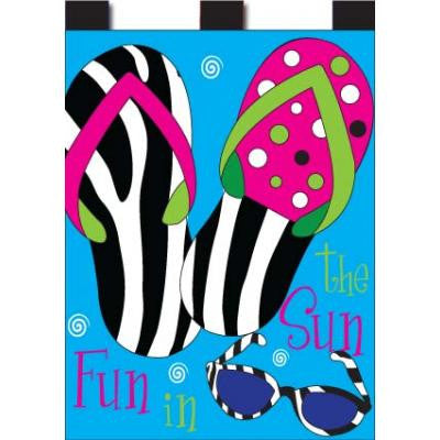 Garden, Zebra Flips - Applique Flag