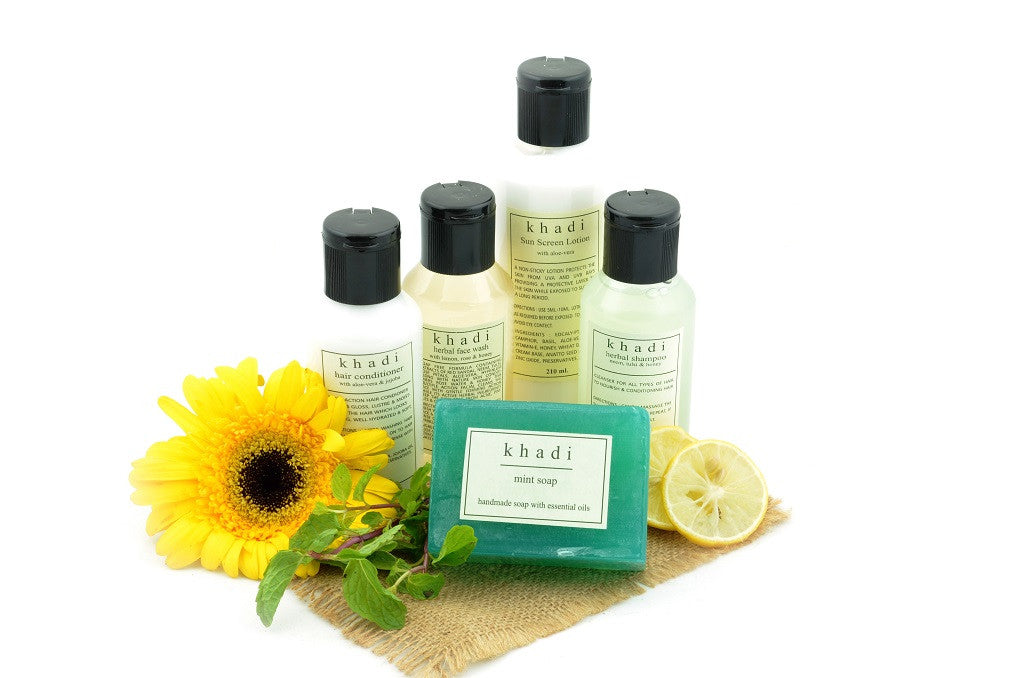 Complete Summer Travel Natural Skin & Hair Care Kit with ingredients