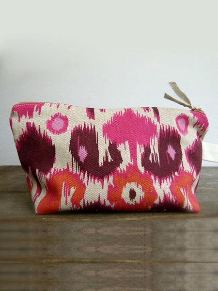 Frankie & Coco PDX Handmade Pink & Plum Cosmetic Bag