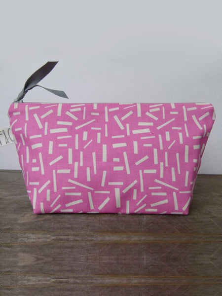 Frankie & Coco PDX Handmade Pink Geometric Cosmetic Bag