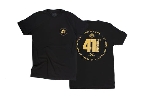 Odyssey 41-Thermal® 20th Anniversary Tee (Black/Gold)