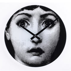 Midcentury Style Girl Wasn't Me Clock in Black and White
