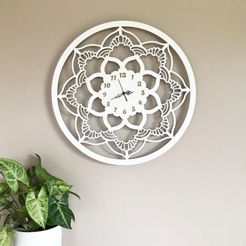Lace Mandala Clock