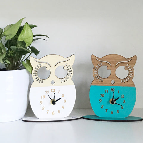 Miss Owl Clock