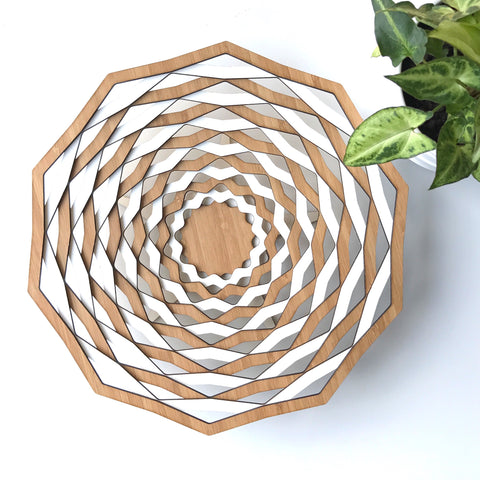 Dipped Decagon Bowl