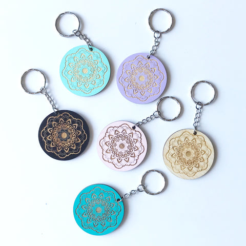 Mandala Key Ring