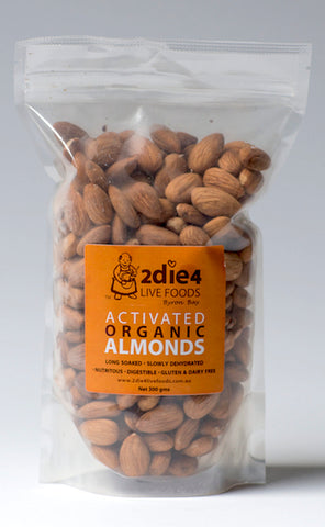 2DIE4 ACTIVATED ORGANIC ALMONDS 300GM - Natural Food Barn