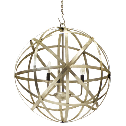 Gold Orb Chandelier