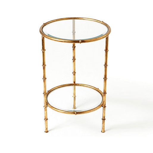 Gold Bamboo Round Table