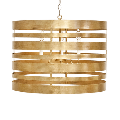 Worlds Away Gold Turner Chandelier