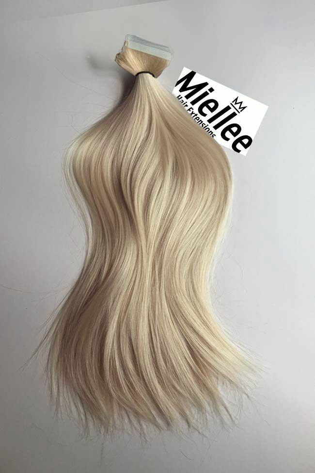 Champagne Blonde Seamless Tape Ins | Silky Straight Remy Human Hair