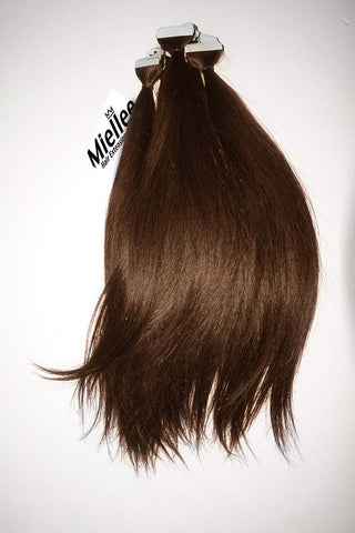 Chocolate Brown Full Head Clip Ins | Silky Straight Remy Human Hair