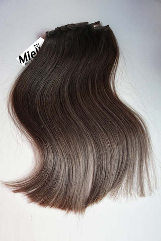 Light Ash Brown Balayage Weave Extensions | Silky Straight Remy Human Hair