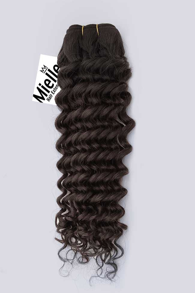 Natural Brown Weave Extensions | Deep Curl Virgin Human Hair