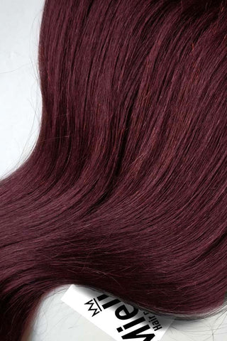 Sherry Red Seamless Tape Ins | Beach Wave Remy Human Hair