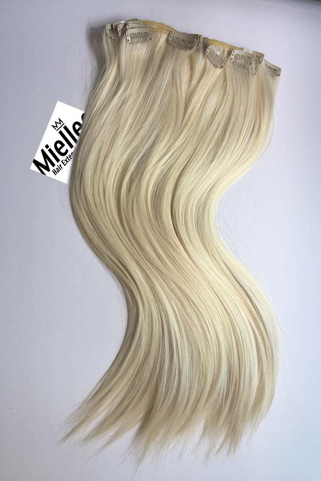 Vanilla Blonde Full Head Clip Ins | Silky Straight Remy Human Hair