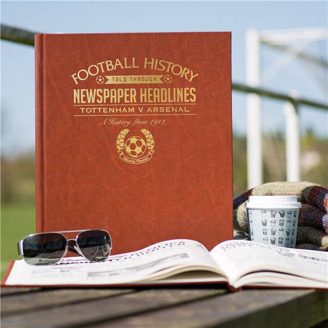 Personalised Spurs V Arsenal Derby Football Newspaper Book - Personalised Gift Solutions - 1
