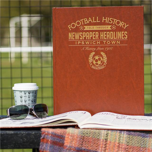 Personalised Ipswich Football Newspaper Book - Personalised Gift Solutions - 1