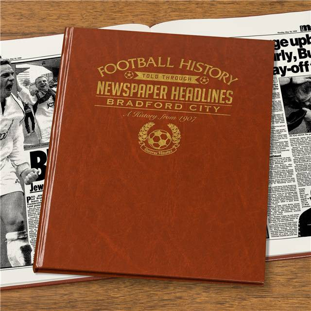 Personalised Bradford Football Newspaper Book - Personalised Gift Solutions - 7