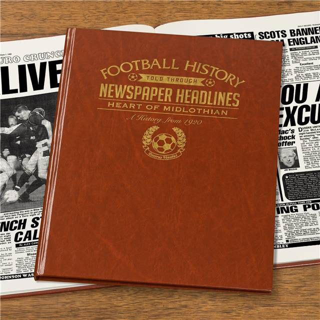 Personalised Hearts Football Newspaper Book - Personalised Gift Solutions - 4