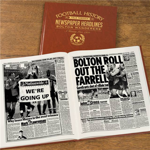 Personalised Bolton Football Newspaper Book - Personalised Gift Solutions - 8