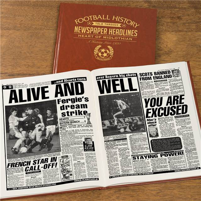 Personalised Hearts Football Newspaper Book - Personalised Gift Solutions - 8