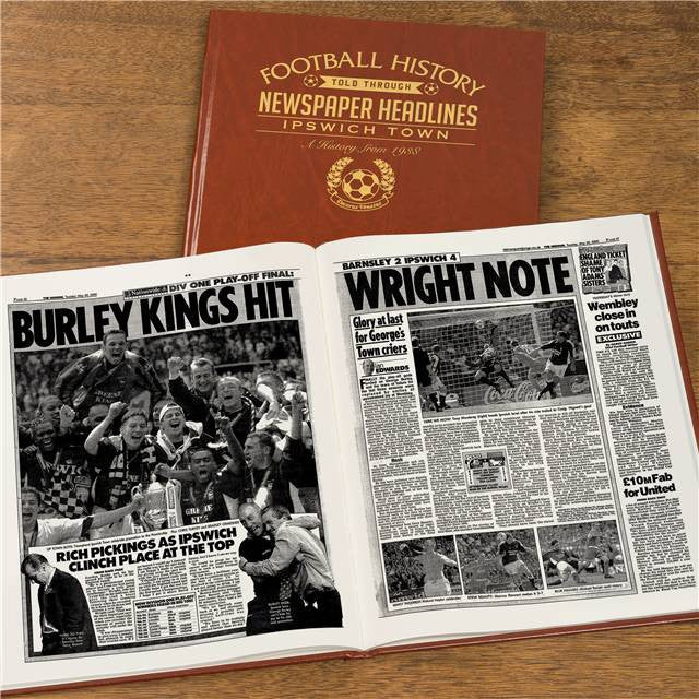 Personalised Ipswich Football Newspaper Book - Personalised Gift Solutions - 7