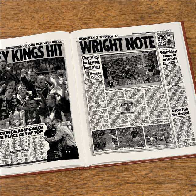 Personalised Ipswich Football Newspaper Book - Personalised Gift Solutions - 8