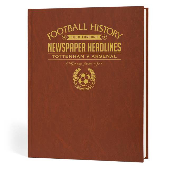 Personalised Spurs V Arsenal Derby Football Newspaper Book - Personalised Gift Solutions - 2