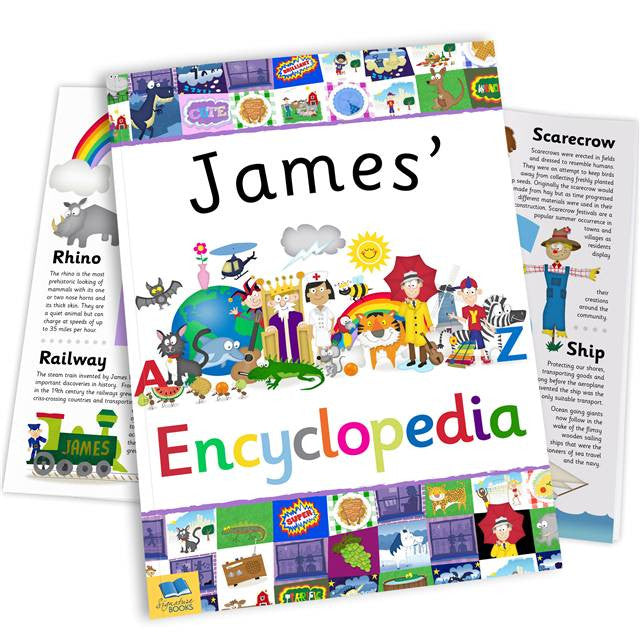 Personalised Children's Encyclopedia - Personalised Gift Solutions - 1
