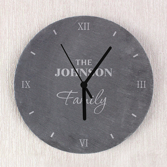 Personalised Family Slate Clock - Personalised Gift Solutions - 2