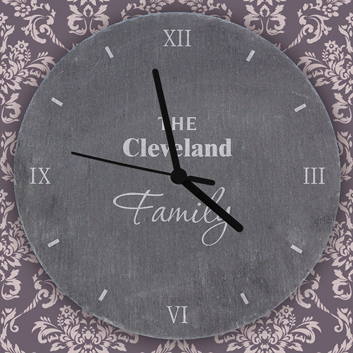 Personalised Family Slate Clock - Personalised Gift Solutions - 3