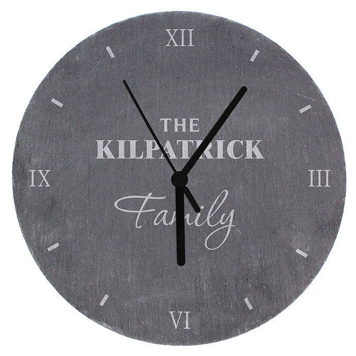 Personalised Family Slate Clock - Personalised Gift Solutions - 4