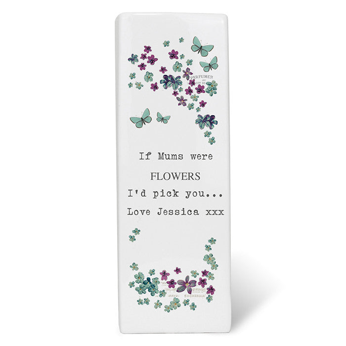 Personalised Forget Me Not Square Vase - Personalised Gift Solutions - 1