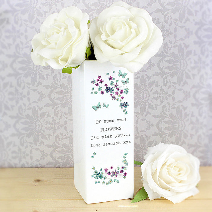 Personalised Forget Me Not Square Vase - Personalised Gift Solutions - 2