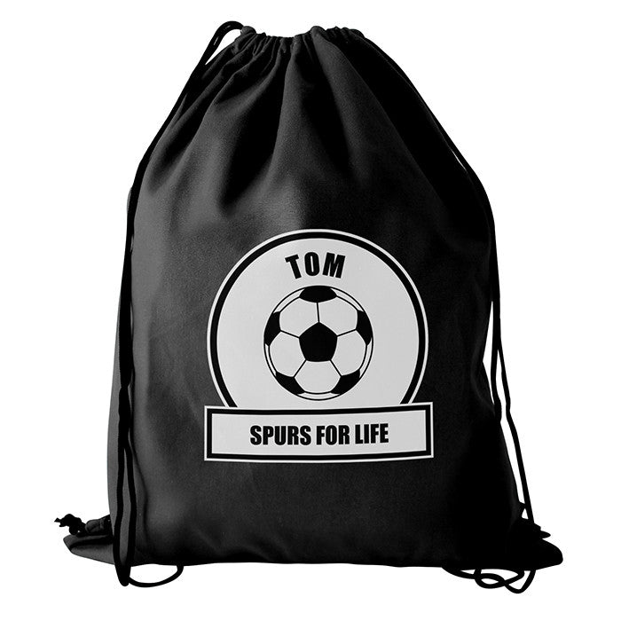 Personalised White Football Fan Boys Kit Bag - Personalised Gift Solutions - 2