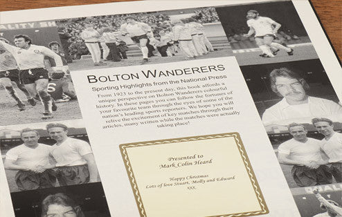 Personalised Bolton Football Newspaper Book - Personalised Gift Solutions - 3