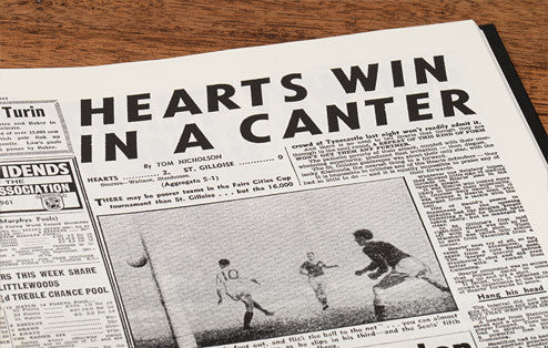 Personalised Hearts Football Newspaper Book - Personalised Gift Solutions - 5