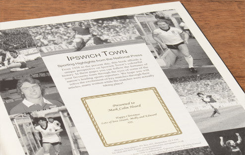 Personalised Ipswich Football Newspaper Book - Personalised Gift Solutions - 3