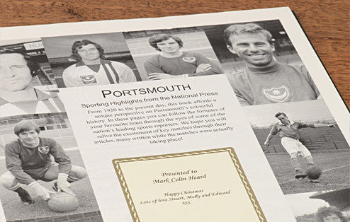 Personalised Portsmouth Football Newspaper Book - Personalised Gift Solutions - 2